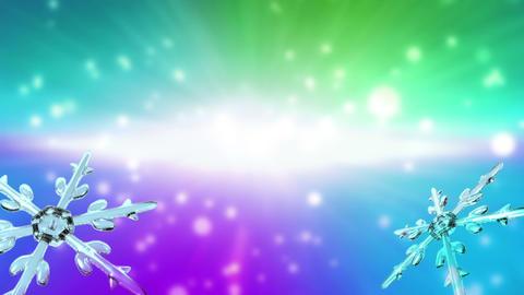 bokeh Christmas Snowflakes color Animation