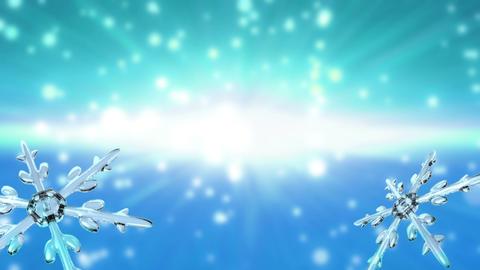 bokeh Christmas Snowflakes sky blue Animation
