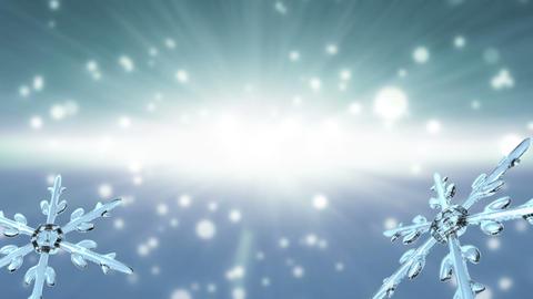 bokeh Christmas Snowflakes white Animation