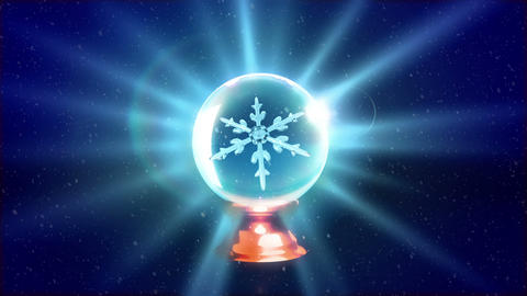 Christmas Snowflakes crystal ball blue Animation