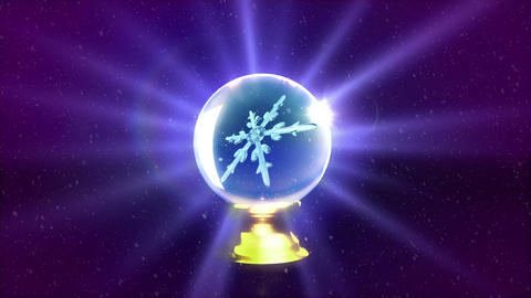 Christmas Snowflakes crystal ball purple Animation