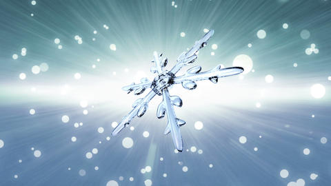 bokeh Christmas Snowflake white Animation