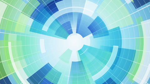 blue circular segments loopable abstract background 4k (4096x2304) Animation
