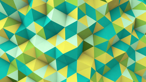 multicolor polygonal geometric surface seamless loop Animation