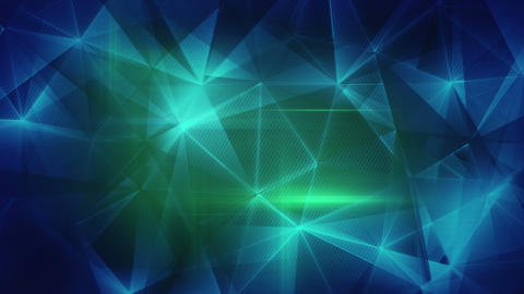 glossy blue green triangles abstract background loop 4k (4096x2304) Animation