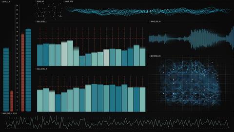 analysis data technology interface loopable animation 4k (4096x2304) Animation