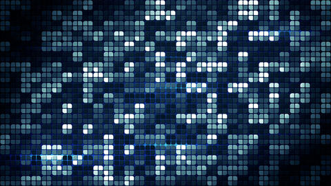blue glowing squares loopable background 4k (4096x2304) Animation