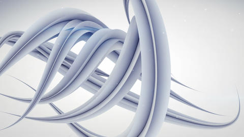 futuristic curved strokes abstract 3D animation Animation