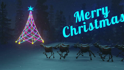 Merry Christmas night animation Animation