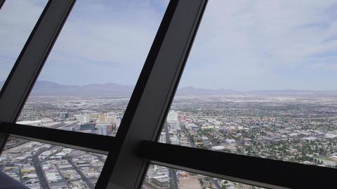 Looking Down On Las Vegas Strip stock footage