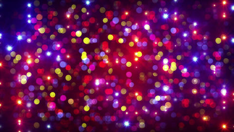 disco party light flashes and bokeh background loop 4k (4096x2304) Animation