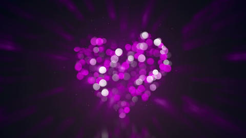 defocused heart shape and lights loopable animation 4k (4096x2304) Animation