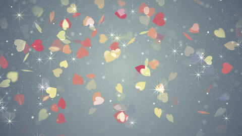 colorful hearts falling loopable background 4k (4096x2304) Animation