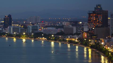 marine city at night timelapse Footage