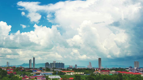 clouds over city panning timelapse Footage
