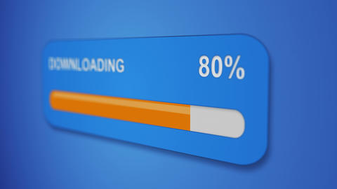 download progress bar close-up 4k (4096x2304) Animation