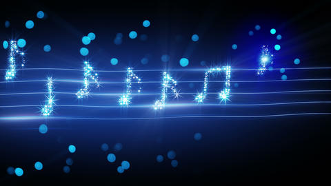 musical notes from fireworks loopable animation 4k (4096x2304) Animation