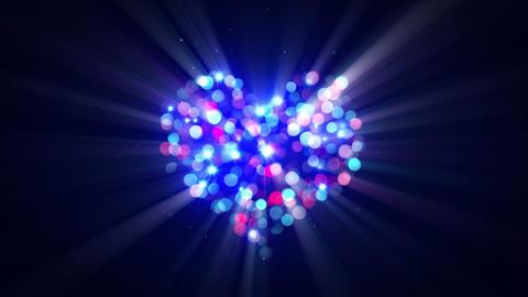 flashing disco heart shape loopable animation 4k (4096x2304) Animation