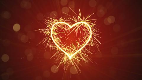 sparkler heart shape animation last 5s loopable 4k (4096x2304) Animation