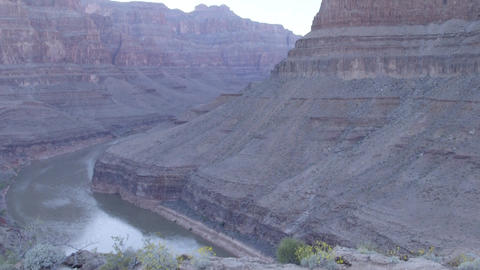View from the ground in the Grand Canyon Footage