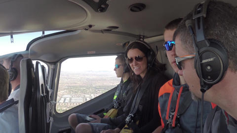LAS VEGAS, NEVADA - CIRCA APRIL 2015: Flying in a helicopter over Las Vegas, Nev Footage