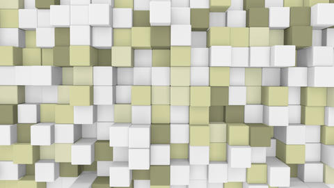 pale yellow 3D cubes loopable geometric background 4k UHD (3840x2160) Animation