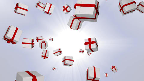 gift box 5 loop Animation