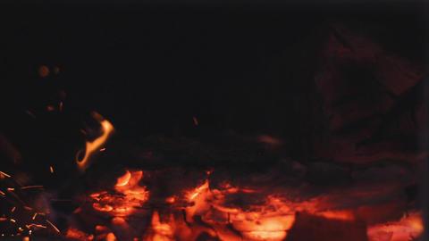Firing Firewood stock footage