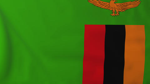 Flag Of Zambia stock footage