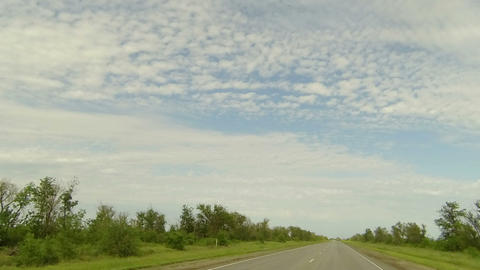 Clouds Over The Road. The Path From Varvarovskoe Village - Gorodischenskoe Villa stock footage