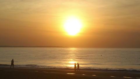 Walking at dawn Footage