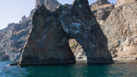 Panorama rocks Karadag Footage