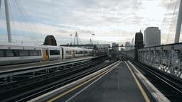 railway overground train in London Footage