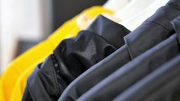 Raincoats stock footage