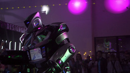 Robot performance on sound and light show Footage
