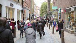 Shopping Walk In Covent Garden London stock footage