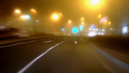 Timalapse of car driving at night Footage