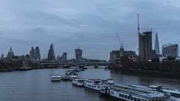 Time Lapse Sunrise London River stock footage