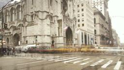 Timelapse Manhattan downtown three Footage