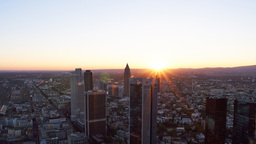 Timelapse Frankfurt Sunset From Maintower stock footage
