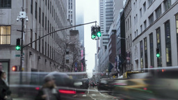 Timelapse Manhattan downtown two Footage