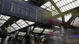 Timelapse of Zurich Train Station Footage