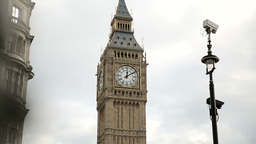 Westminster Clock Pan stock footage