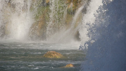 Wild Waterfalls stock footage