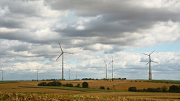 windmills in Germany in rural area 2 Footage