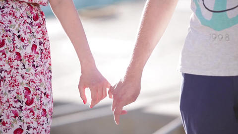 hands holding on to little fingers Footage