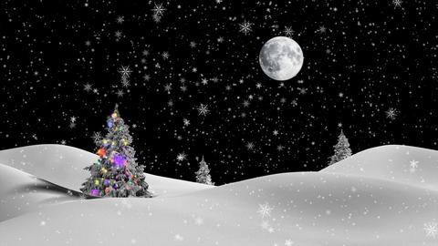 Christmas,New Year,3d Winter Background,2016 stock footage