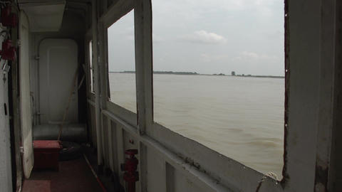 Ayeyarwady River, Interior Of Cruise Ship stock footage