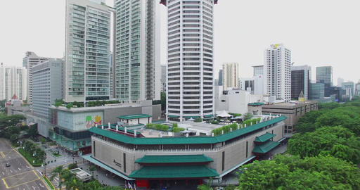 aerial - orchard road tang plaza Footage