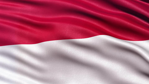 4K Indonesia flag seamless loop Ultra-HD Animation